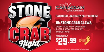 Stone Crab Night (Abbotsford)