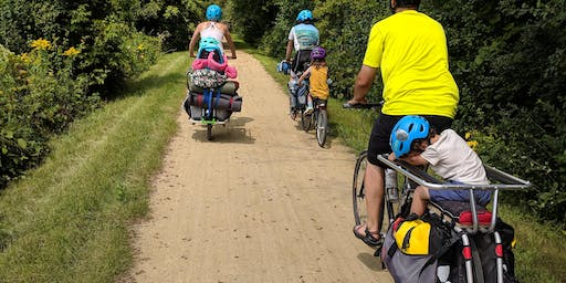 Family Bike Camping // New Glarus Woods State Park // September 2019