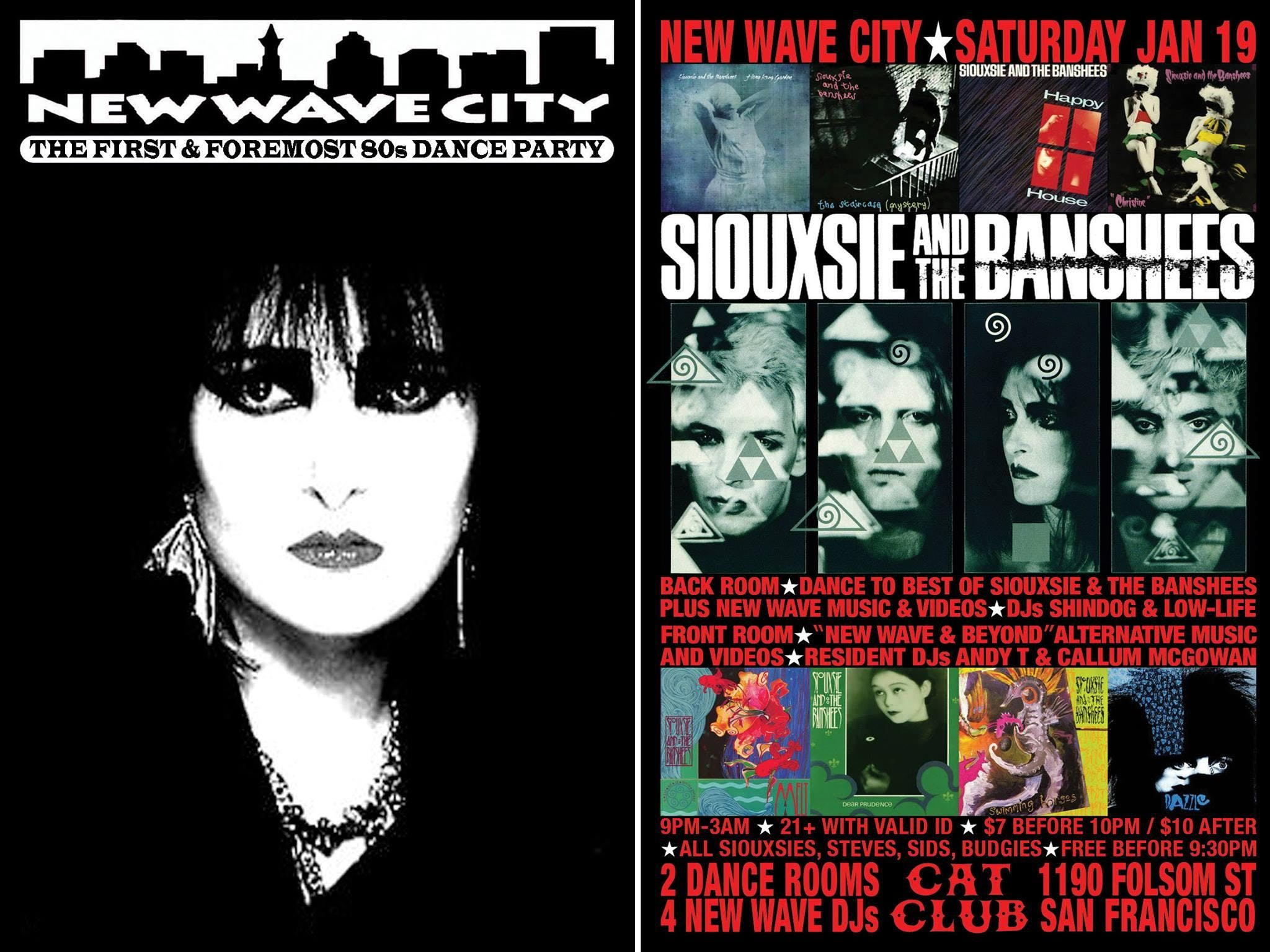 2 For 1 Admission To Siouxsie Night Jan 19 20 Jan 2019