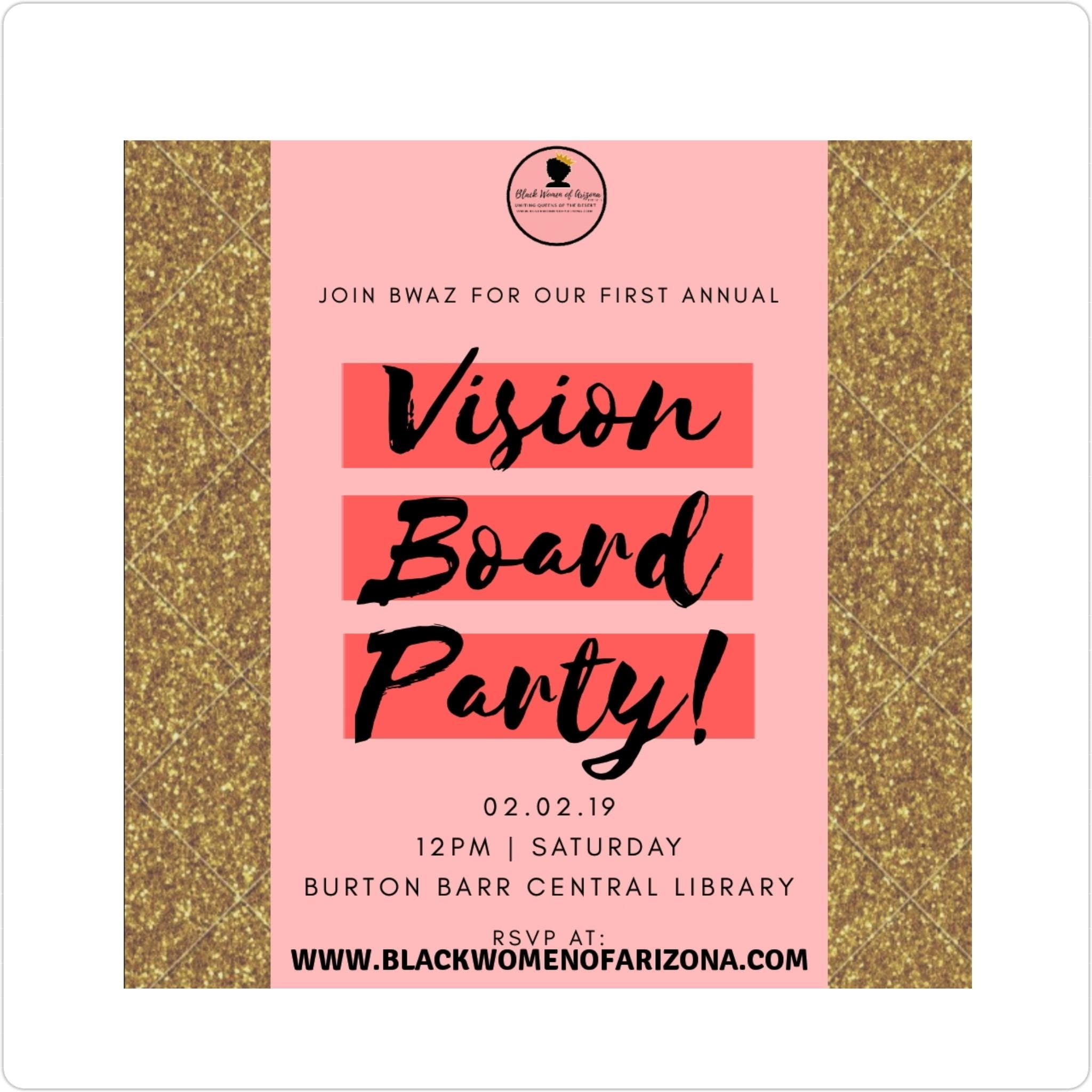 BWAZ 1st Annual Vision Board Party 2019