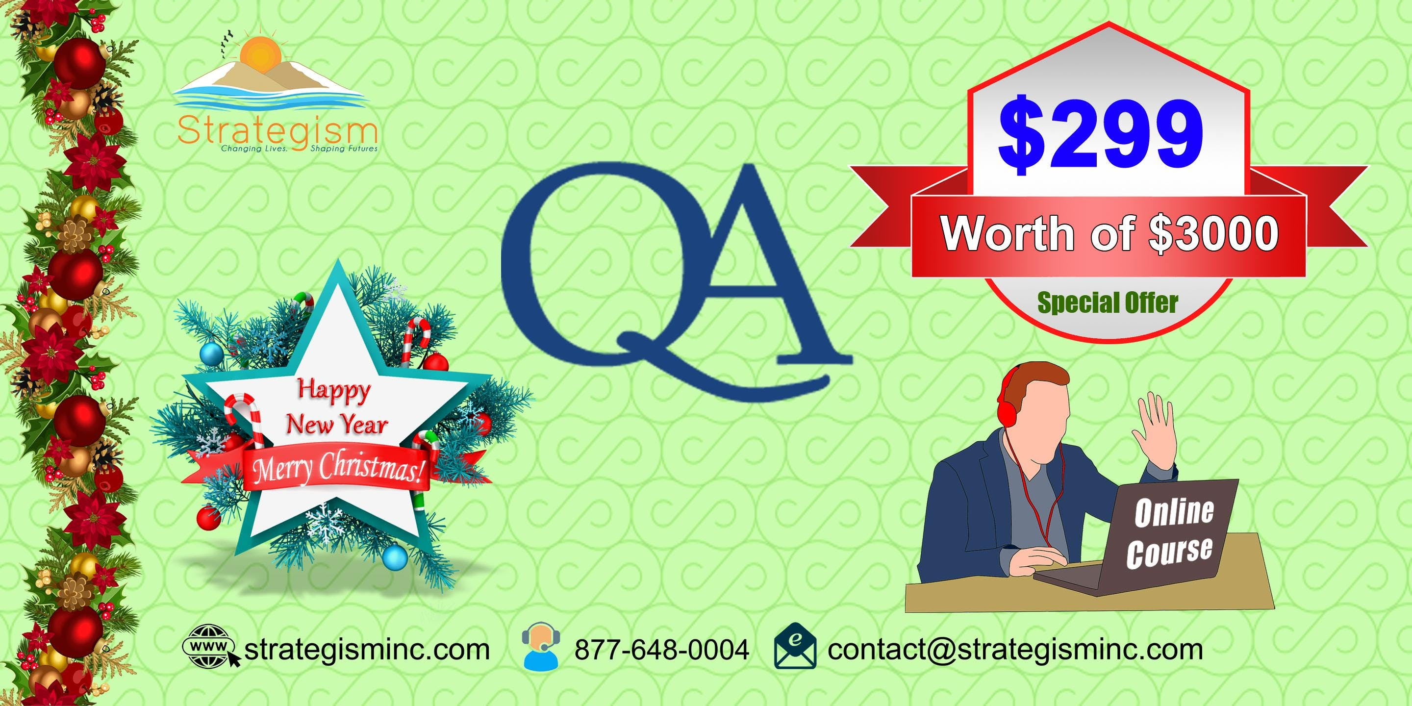 Quality Assurance online Training in Los Angeles-Jan 9th-Feb 11th,2019