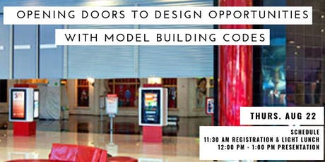 Opening Doors to Design Opportunities with Model Building Codes tickets