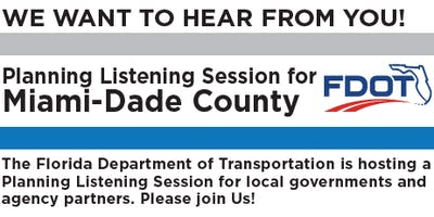 Miami-Dade County Planning Listening Session: District 6