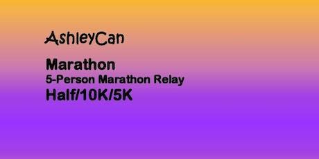 AshleyCan Marathon/5-Person Marathon Relay/Half Marathon/10K/5K  delete tickets