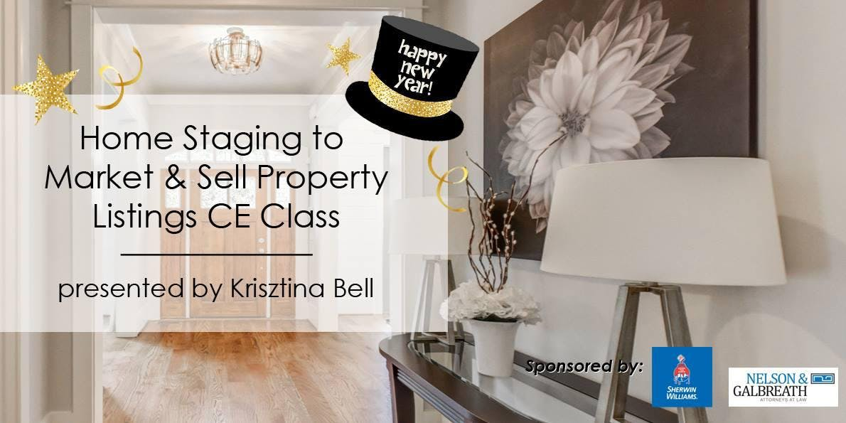 3-Hour CE Class - Home Staging To Market & Se