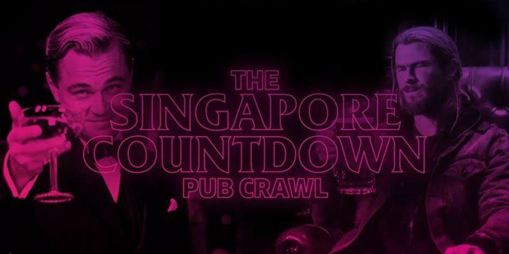 Image result for singapore pub crawl new years