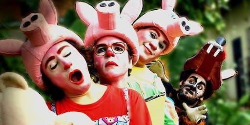 """Desconto! Espetáculo """"Os Três Porquinhos - O Retorno do Lobo Mau"""", no Teatro Dr. Botica"""