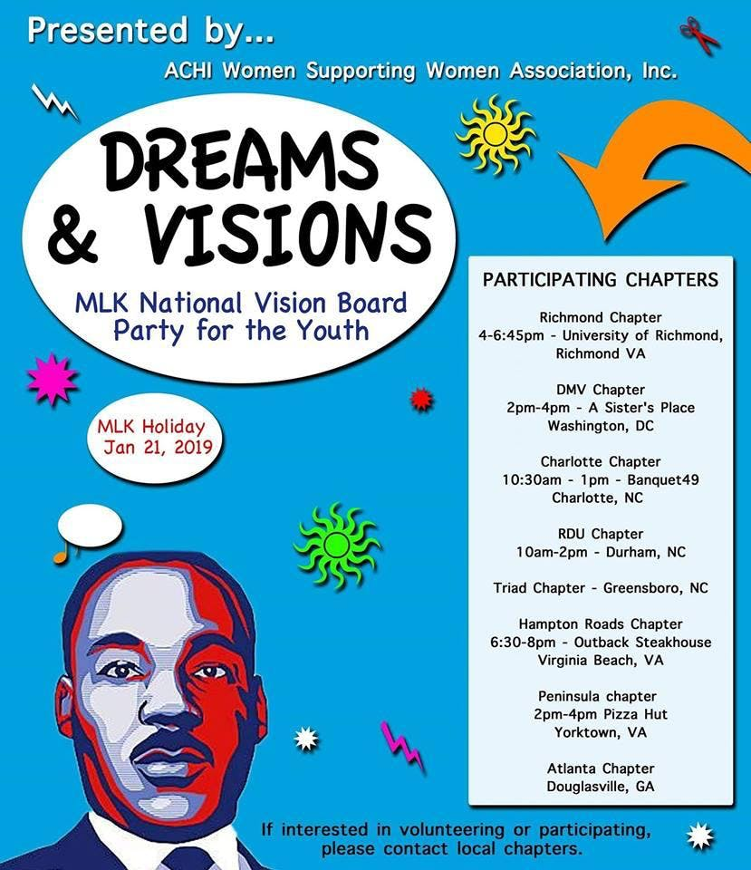 MLK National Dream & Vision Board Party for Y