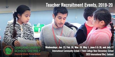 Oakland Unified School District Teacher Recruitment Events (2019-20)