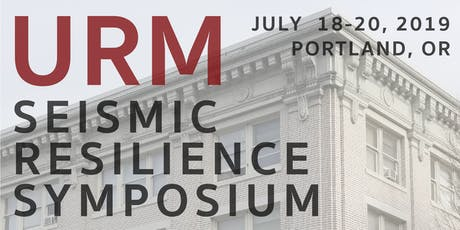 URM Seismic Resilience Symposium tickets