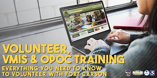 Fort Carson ACS/AVC VMIS Training & New Volunteer Orientation