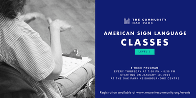 Level 1 - American Sign Language (ASL) Classes