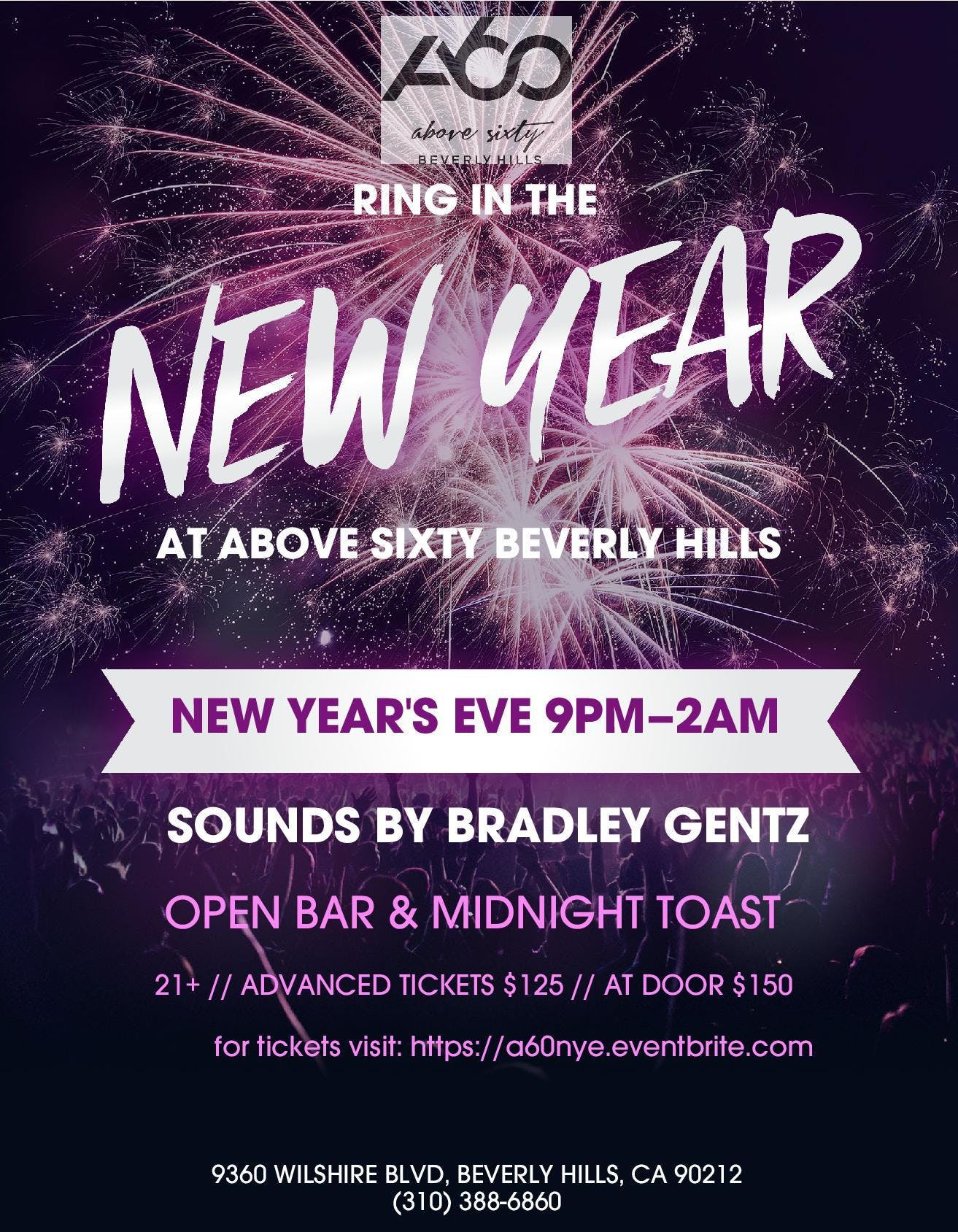 Ring In 2019 At Above SIXTY Beverly Hills