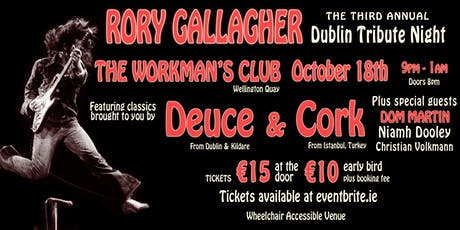 Third Rory Gallagher Dublin Tribute Night tickets