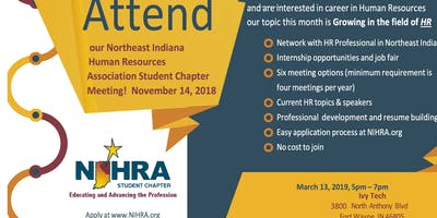 NIHRA Student Chapter Meeting - March