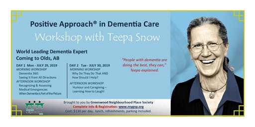 Dementia Care Workshop Series with TEEPA SNOW