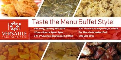 Taste the menu buffet style