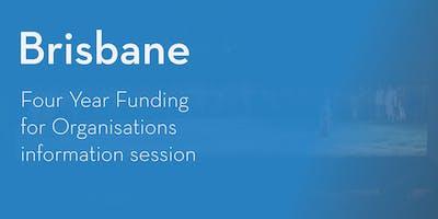 Four Year Funding Program – Information Session - Brisbane