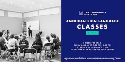 Level 2 - American Sign Language (ASL) Classes