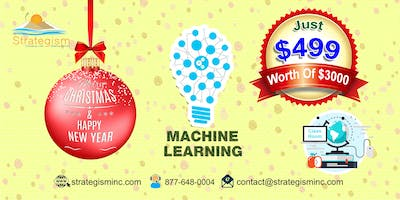 Machine learning weekend training for union city-Jan 19th to Feb 10th,2019