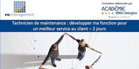 """Roissy / Formation """"Technicien de Maintenance: développer ma fonction pour un meilleur service au client"""" (VINCI Energies), 8 et 9 octobre 2019 billets"""