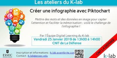 """Les ateliers du K-Lab \""""Créer une infographie avec Piktochart\"""", CNIT La Défense"""