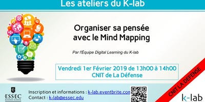 Les Ateliers du K-Lab, La Defense, Organiser sa pensée avec le Mind Mapping