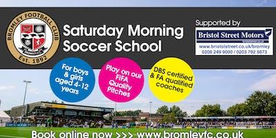 Saturday Morning Soccer School - 19th January 2019