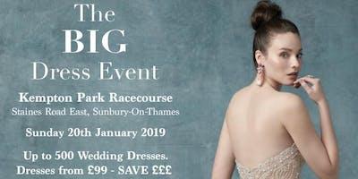 The BIG Dress Event. Wedding dress sale at Kempton Park Racecourse.