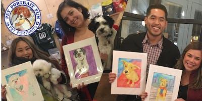 Paint a Pet/ Dog Portrait-Friday Yappy Hour-Boris & Horton -Jan 18