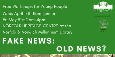 Fake News: Old News? - FREE Workshop for Young People