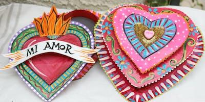 Flaming Heart Jewelry Box