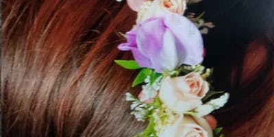 Spring Floral Head Wreath Design Class