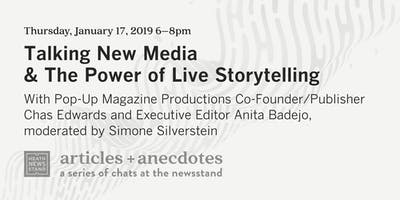 At the Newsstand: Talking New Media & The Power of Live Storytelling with Pop-Up Magazine
