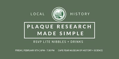 NEW DATE!!! Plaque Research Made Simple Class