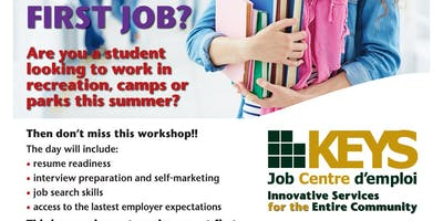 Ready Set Hired Recreational Summer Jobs Workshop