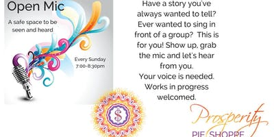 Open Mic at Prosperity Pie Shoppe