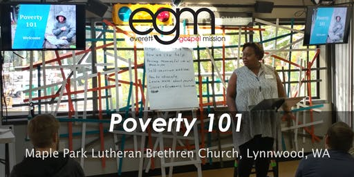 EGM Poverty 101 @ Maple Park Lutheran Brethren