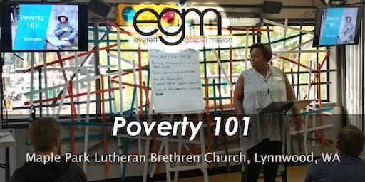 EGM Poverty 101 @ Maple Park Lutheran Brethren