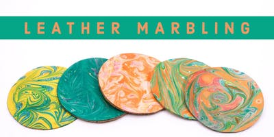 BRASS BUTTON: Leather Marbling