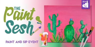 "Paint and Sip in Riverside, CA – ""Cactus Blooms"