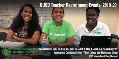 School & Partner Registration - OUSD Teacher Recruitment Events (2019-20)