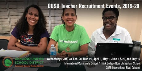 School & Partner Registration - OUSD Teacher Recruitment Events (2019-20) tickets
