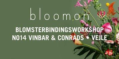 bloomon blomsterbindings-workshop 13. februar   Vejle, No14 Vinbar & Conrads