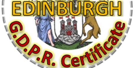 GDPR Practitioner Course - EDINBURGH, 5 days over 5 weeks tickets