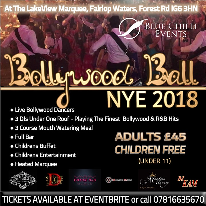 Bollywood NYE Party 2018 -Children  FREE!! image