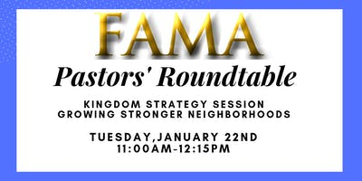 Pastor's Roundtable January 2019