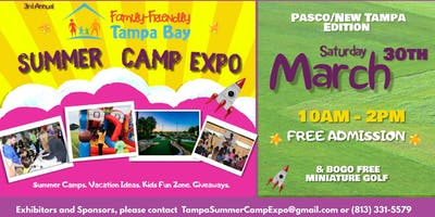 3rd Annual Family-Friendly Summer Camp Expo: Pasco/New Tampa Edition (2019)