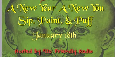 New Year A New You Sip Paint Puff