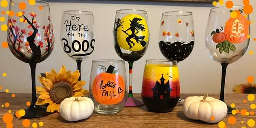 Wine Glass Painting Class at Oak Knoll Winery